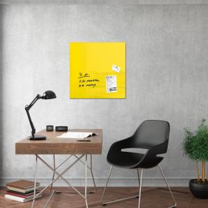 Produkt Sklenená magnetická tabuľa žltá