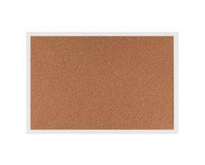 Produkt Korková tabuľa v bielom drevenom ráme