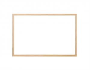 Produkt Biela magnetická tabuľa v drevenom ráme