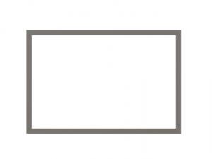 Produkt Biela tabuľa na magnetky v drevenom sivom ráme