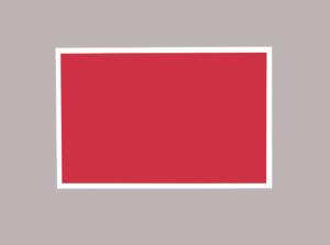 Produkt Červená magnetická kriedová tabuľa v bielom drevenom ráme