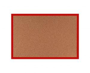 Produkt Korková tabuľa v červenom drevenom ráme