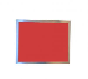 Produkt Červená magnetická kriedová tabuľa PREMIUM v chromovom ráme