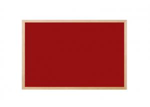 Produkt Červená magnetická tabuľa v drevenom ráme
