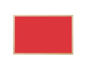 Produkt Magnetická kriedová tabuľa červená v prírodnom drevenom ráme
