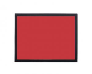 Produkt Červená magnetická kriedová tabuľa v čiernom drevenom ráme