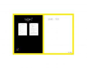 Produkt Kombinovaná magnetická tabuľa v žltom drevenom ráme