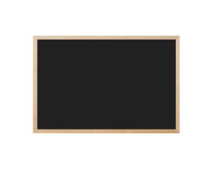 Produkt Čierna magnetická kriedová tabuľa v prírodnom drevenom ráme