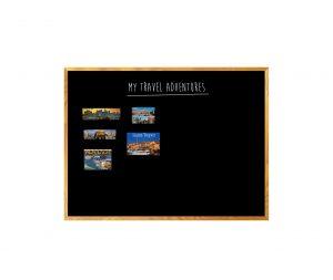 Produkt Čierna tabuľa na magnetky v drevenom ráme mahagón