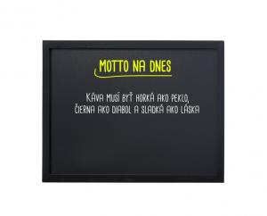 Produkt Čierna magnetická kriedová tabuľa v čiernom drevenom ráme