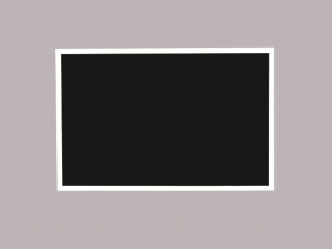 Produkt Čierna magnetická kriedová tabuľa v bielom drevenom ráme