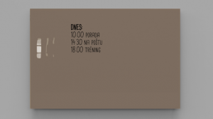Produkt Sklenená magnetická tabuľa hnedá