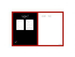 Produkt Kombinovaná magnetická tabuľa v červenom drevenom ráme