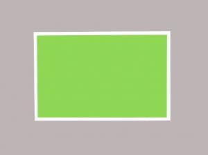Produkt Limetková magnetická kriedová tabuľa v bielom drevenom ráme