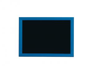 Produkt Čierna magnetická kriedová tabuľa v modrom drevenom ráme