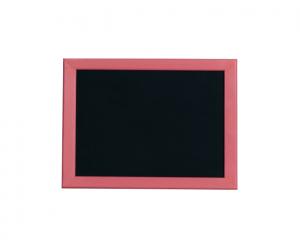 Produkt Čierna magnetická kriedová tabuľa v ružovom drevenom ráme