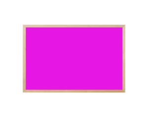 Produkt Ružová magnetická kriedová tabuľa v prírodnom drevenom ráme