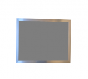 Produkt Sivá magnetická kriedová tabuľa PREMIUM v chromovom ráme