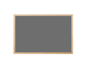 Produkt Sivá magnetická kriedová tabuľa v prírodnom drevenom ráme