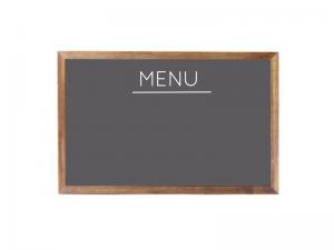 Produkt Sivá magnetická kriedová tabuľa v drevenom ráme mahagón