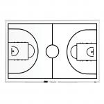 Trénerská magnetická tabuľa Basketbalová