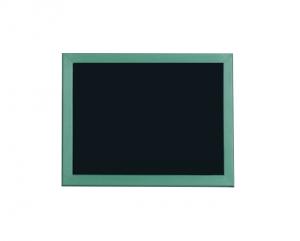 Produkt Čierna magnetická kriedová tabuľa v zelenom drevenom ráme