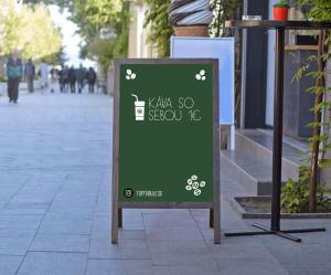 Produkt Kriedový áčkový stojan zelený v sivom ráme