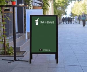 Produkt Kriedový áčkový stojan zelený v čiernom ráme